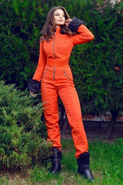 salopeta portocalie de ski